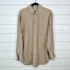 Peter Millar Cotton Button Down Shirt Medium